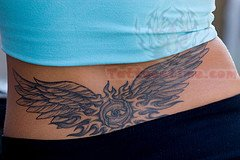 Wings Tattoo On Lowerback