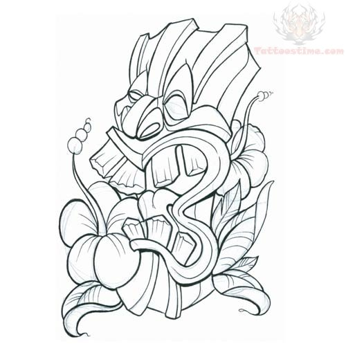 tiki mask tattoos tiki mask tattoo hawaiian tiki mask tattoo tiki mask ...