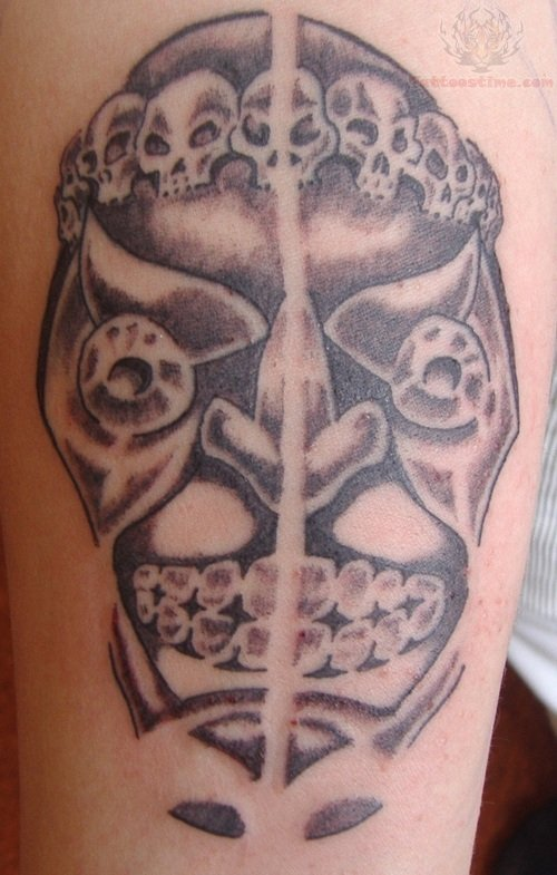 Tattoo On My Right Upper Arm Biomechanical Gas Mask Skull In Tattoos