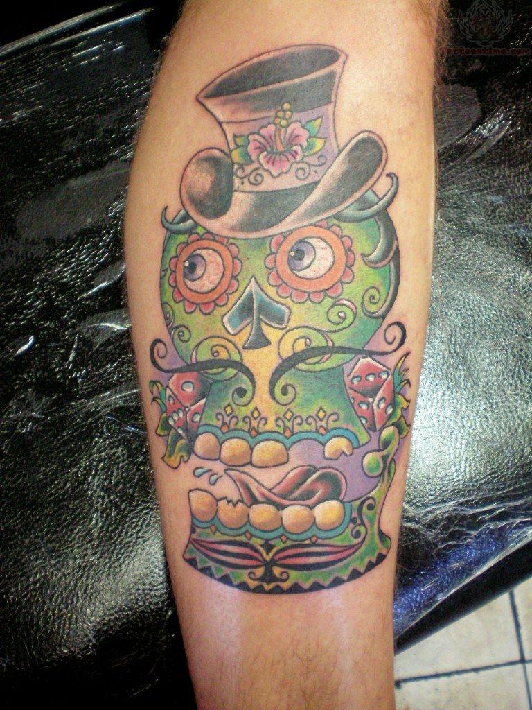Happy tiki tattoo