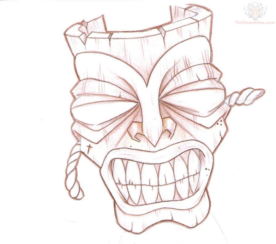 New Tiki Mask Tattoo Design