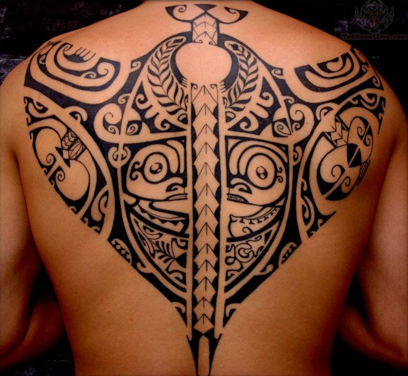 Polynesian Tiki Tattoo Designs: Polynesian Tiki Tattoos On Men Upperback
