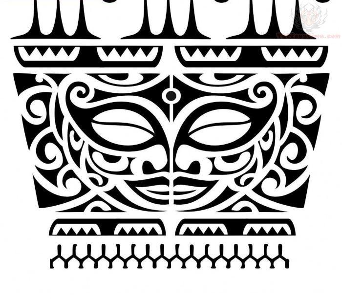 Maori Tiki Tattoo On Shoulder