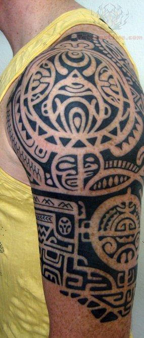 Polynesian Tiki Tattoo Designs: Tiki Polynesian Tattoo On Shoulder