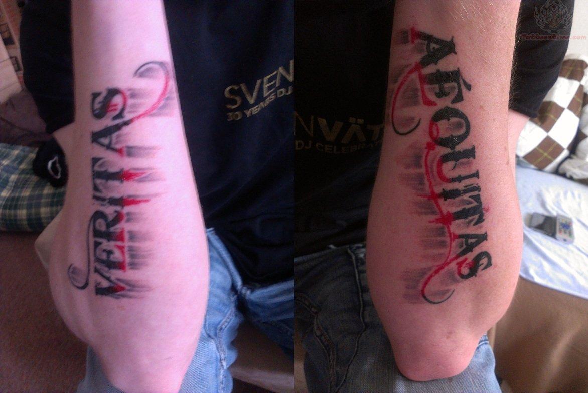 Veritas aequitas forearm tattoos for Veritas aequitas tattoos