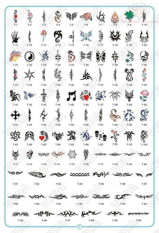 Airbrush Tiny Tattoos Designs