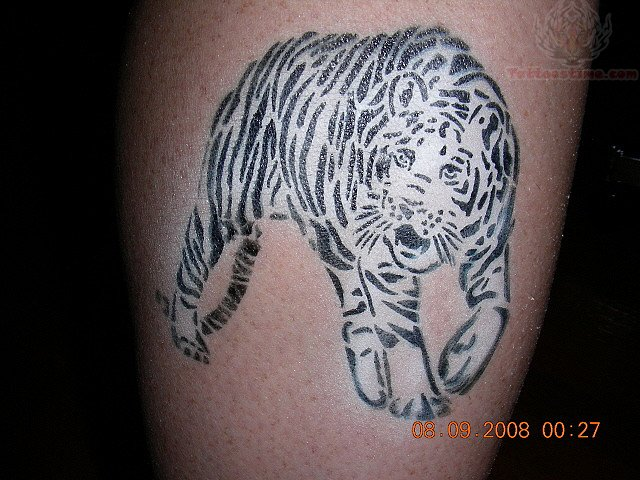 White tiger airbrush tattoo for White tiger tattoo