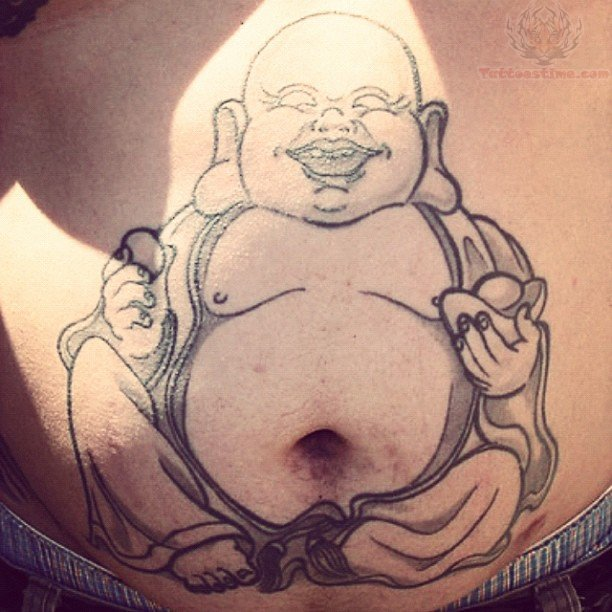 buddha on belly button