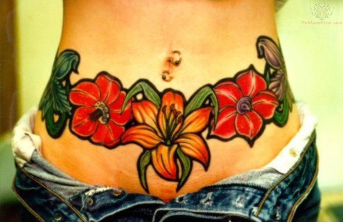 Belly Button Tattoo Images & Designs