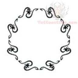 tribal circle belly button tattoo design. Black Bedroom Furniture Sets. Home Design Ideas
