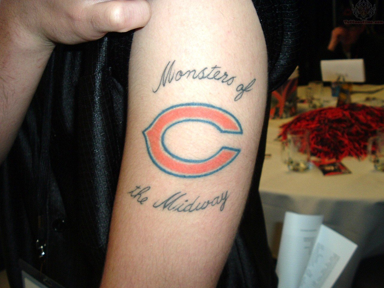 Monsters Of The Midway - Chicago Bears Tattoo