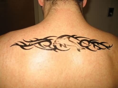 Dolphin Celtic Tattoo On Back