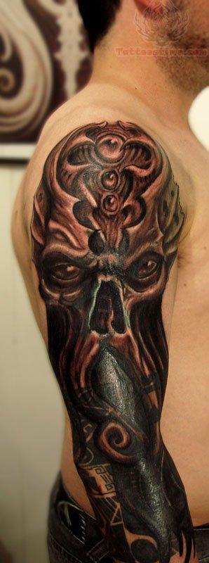 Dark Sleeve Tattoo Designs: Cthulhu Tattoo Images & Designs