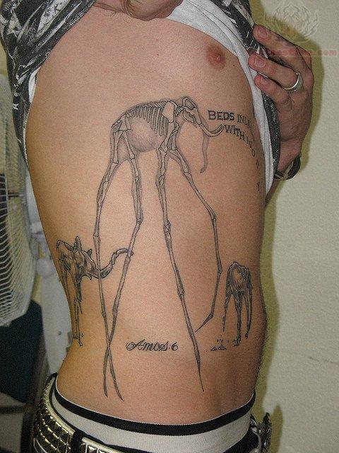 dali elephant tattoo images designs