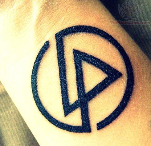 Linkin Park Black Ink Logo Tattoo