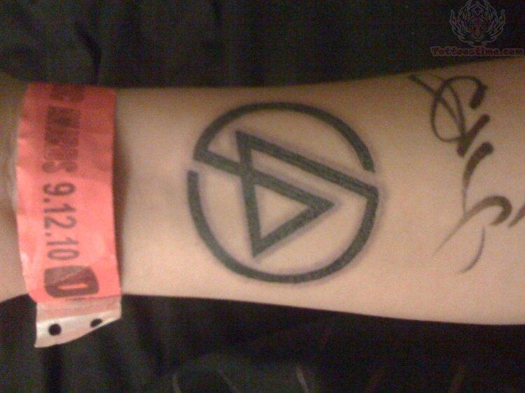 Linkin Park Logo Tattoo On Forearm