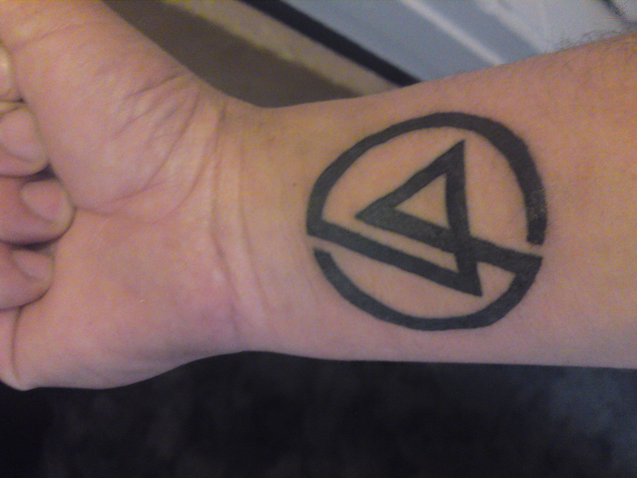 Logo Linkin Park Tattoo On Wrist