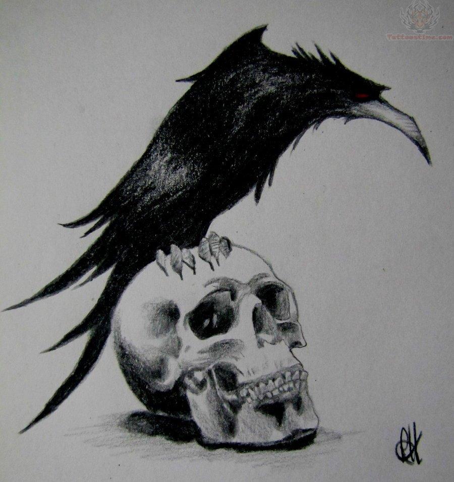 Watercolor tattoo  raven tattoo by santaroosa on deviantART