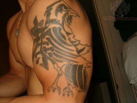 Egyptian wolf tattoo egyptian wolf tattoos on half - Raven Tattoo Images Amp Designs