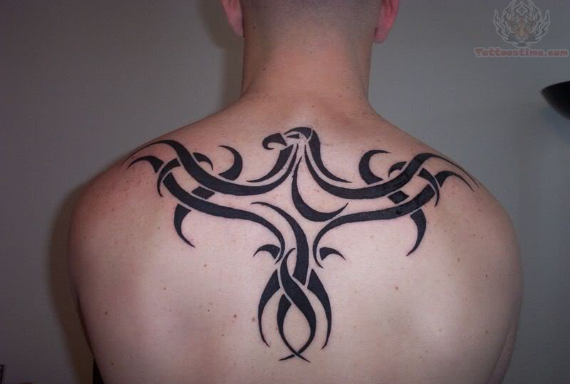 Upper back tribal tattoos designs arm