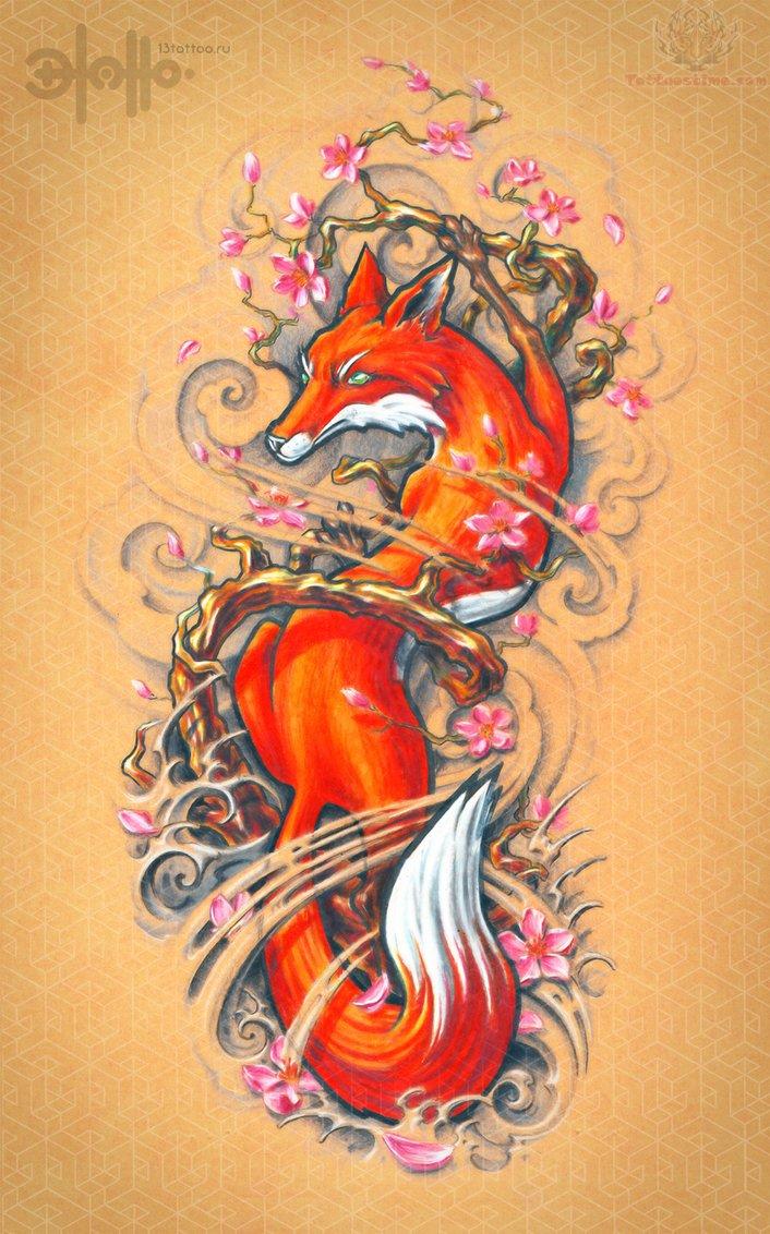 Fox Tattoo Images &amp Designs