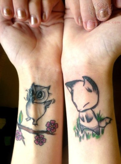 Owl Tattoo Wrist