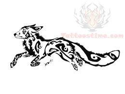 Tribal Running Fox Tat...