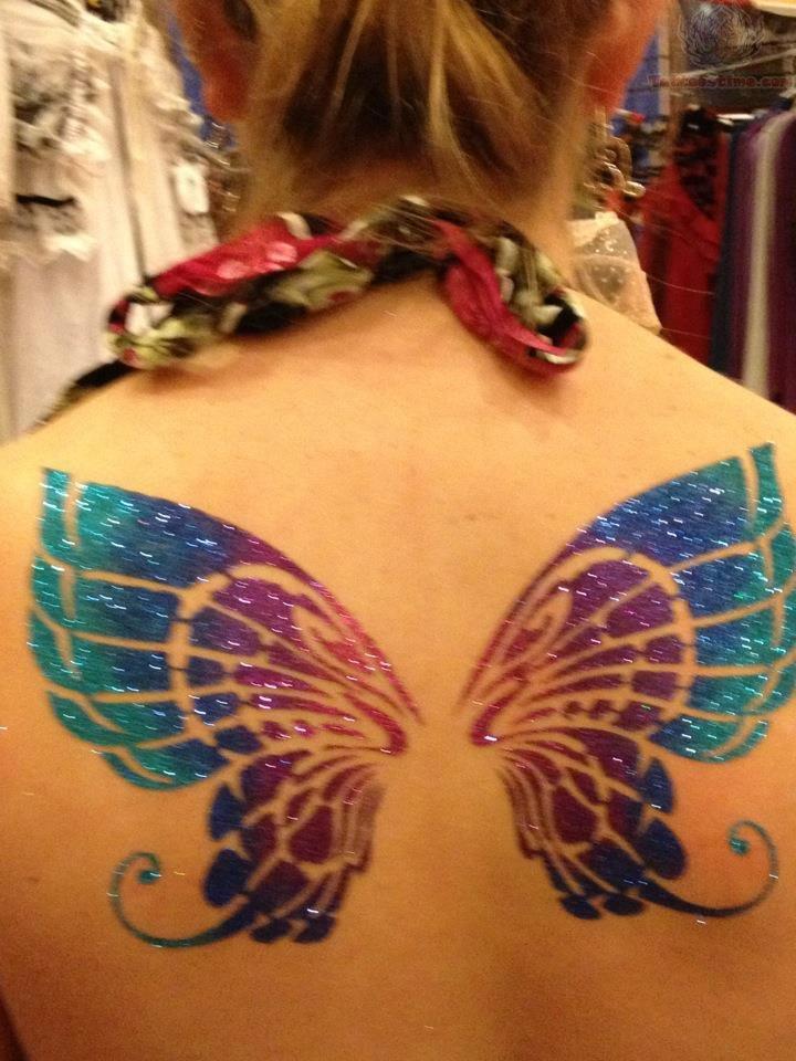 c1d31d363 Feminine Butterfly Wings Tattoos On Upperback