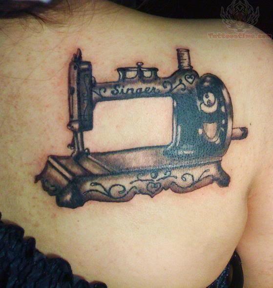 sewing tattoo images designs. Black Bedroom Furniture Sets. Home Design Ideas