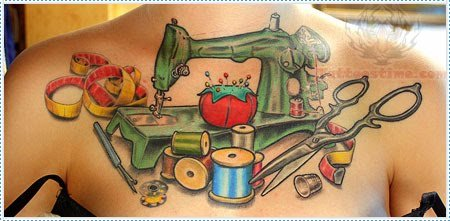 Sewing Tattoo Images Amp Designs