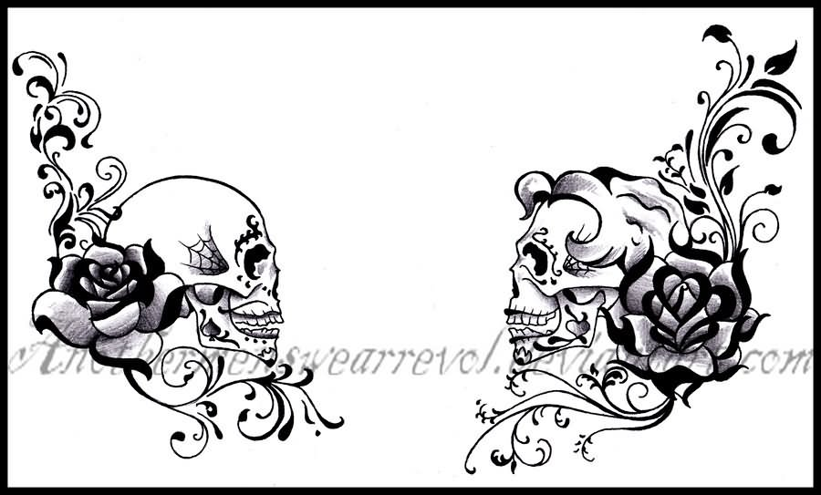 dia de los muertos tattoo images designs. Black Bedroom Furniture Sets. Home Design Ideas