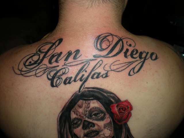 Dia De Los Muertos Tattoo For Back