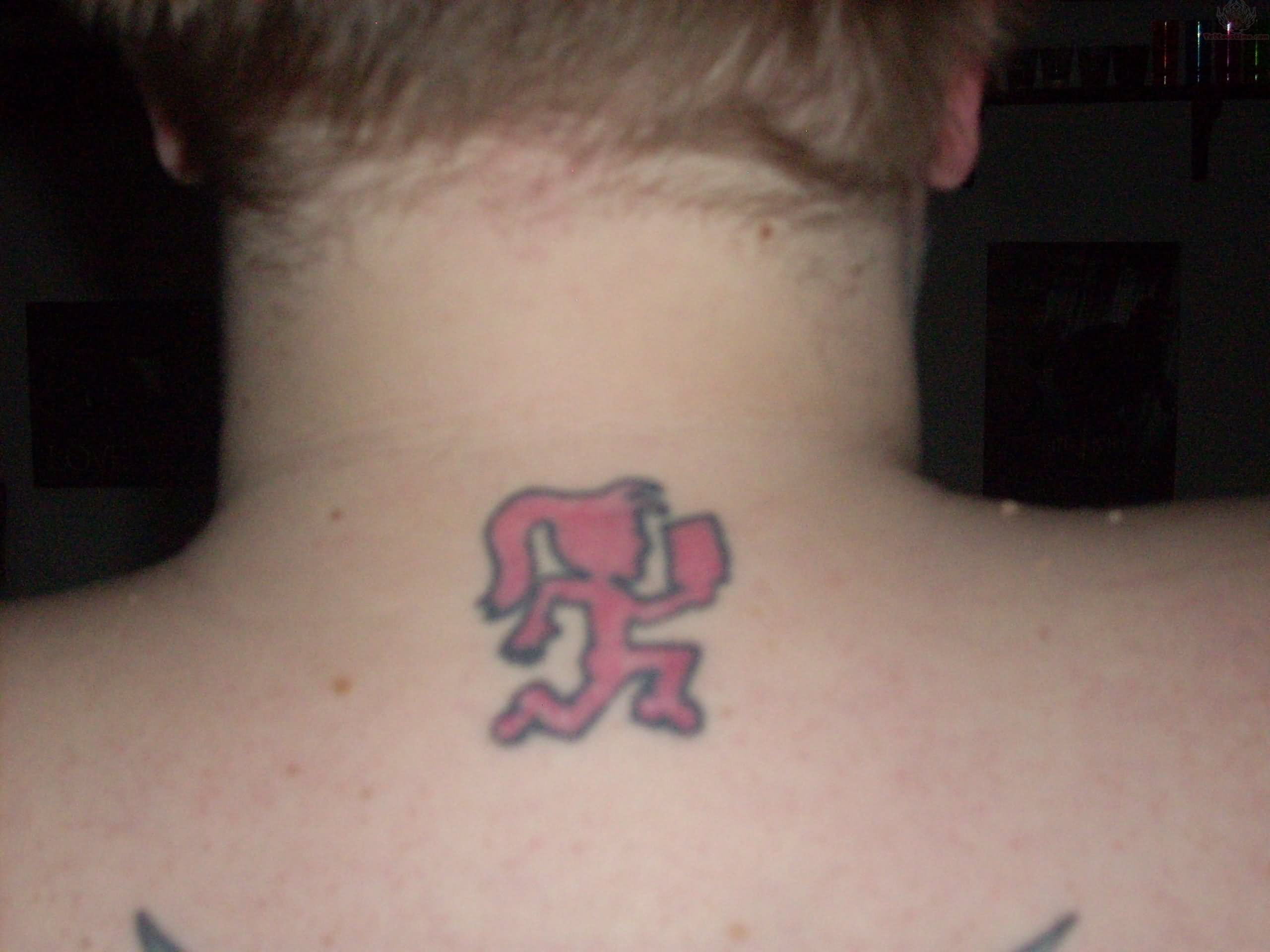 ICP Hatchet Girl Tattoo On Upperback