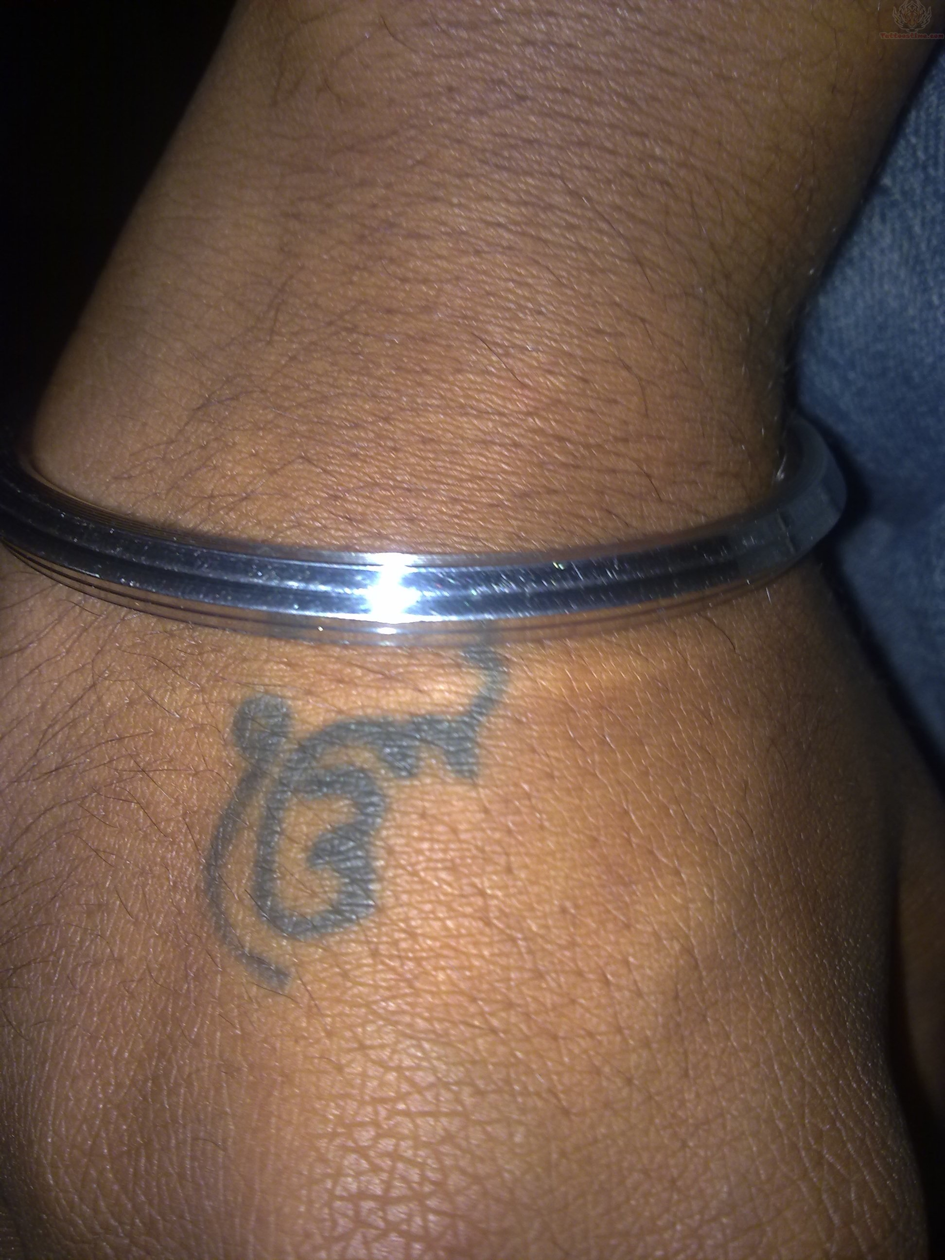 Ik Onkar Tattoo On Right Hand