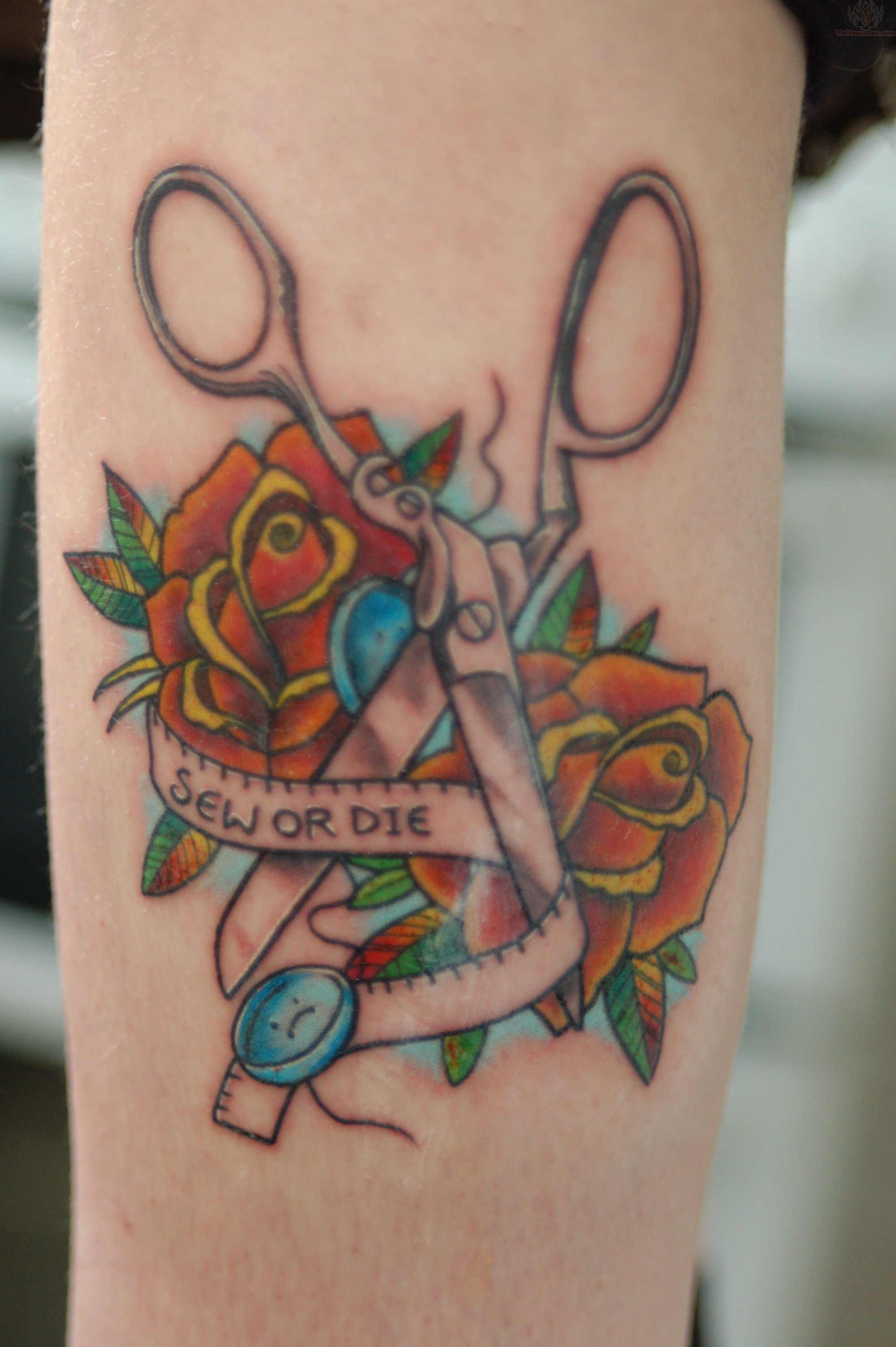 Sewing Scissors Tattoo images