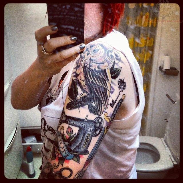 machine sleeve tattoos
