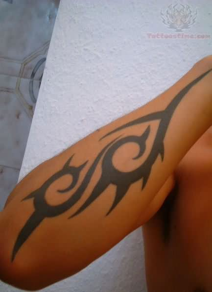 Tribal Tattoo On Forearm