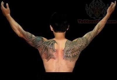Angel Wings Tattoo On Shoulder
