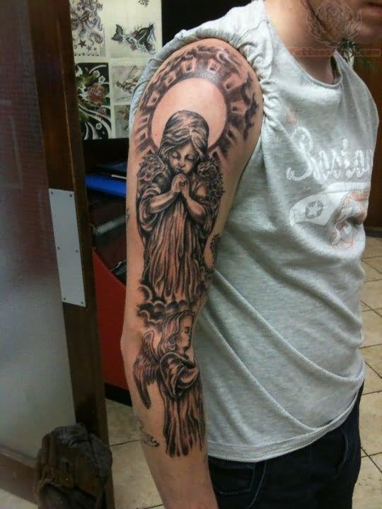 Angel tattoos page 11 for Praying angel tattoos