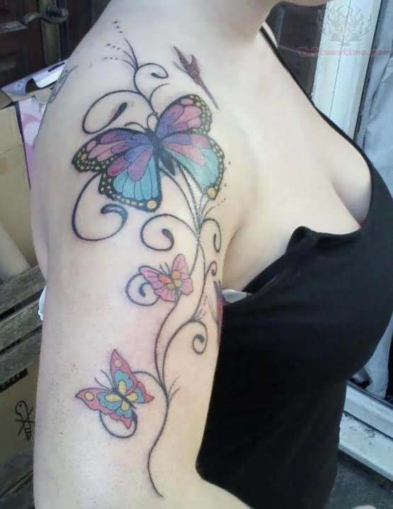 Butterfly tattoos page 102 for Butterfly tattoo arm designs