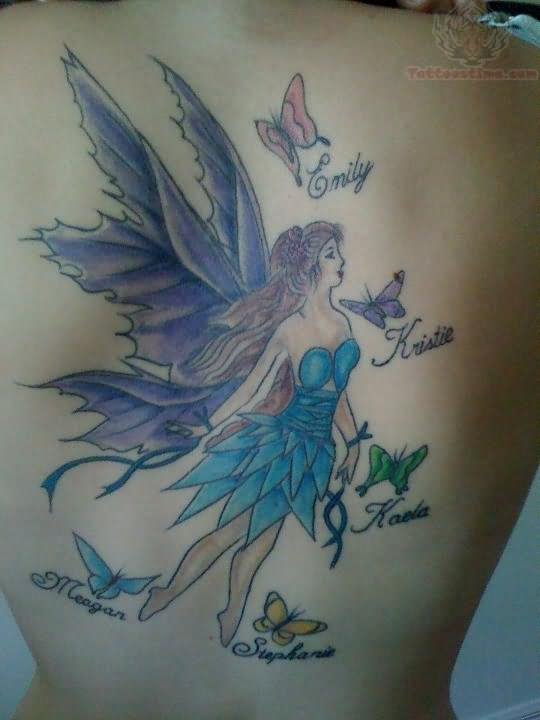 Fairy And Butterflies Tattoo