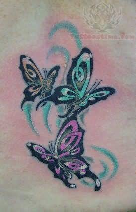 Butterfly flying away tattoos - photo#26