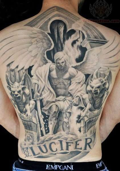 Lucifer Tattoo On Back