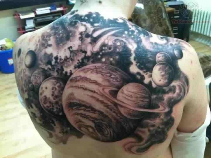 planets tattoo spine - photo #32