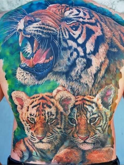 Tiger Horse Tattoo Tiger Tattoos on Back
