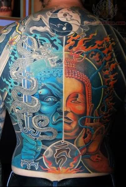 Japanese Fire Tattoo Designs Japanese Fire Tattoo Yin Yan
