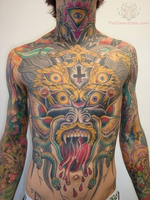Chest Tattoo Images & Designs