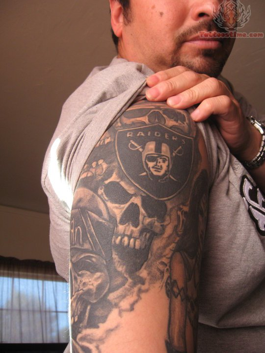 oakland raiders tattoo images designs