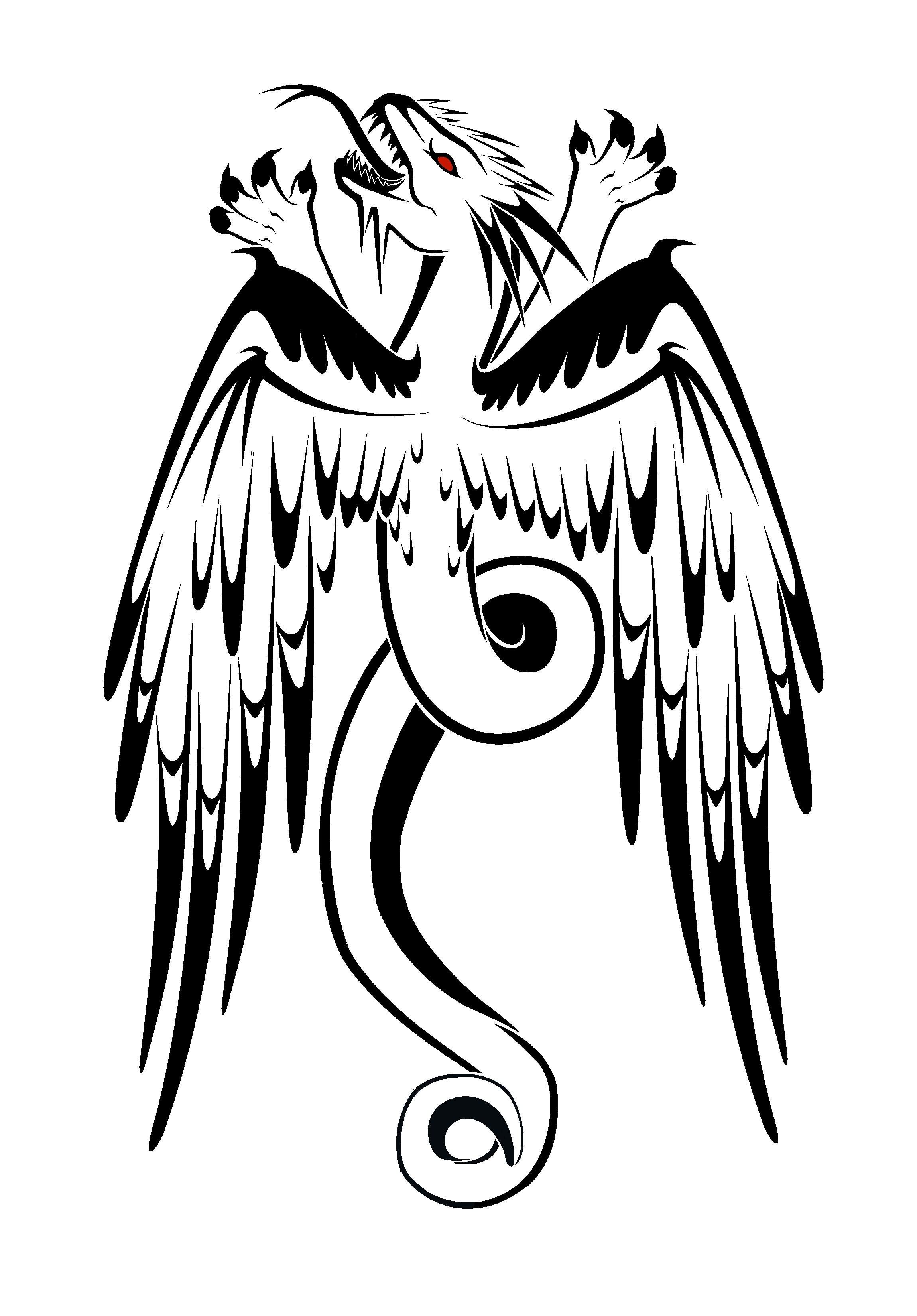Eagle Vs Dragon Drawing Eagle Dragon Tattoo Sample