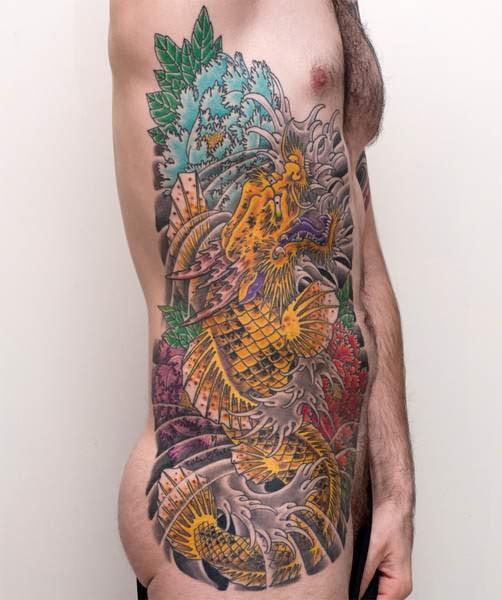 koi dragon fish tattoo